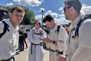 No, we're not on a stag night: we're the Dominicans on a 230-mile pilgrimage